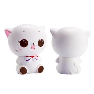 HCM-Squishy Mèo Trắng Cute Dễ Thương.
