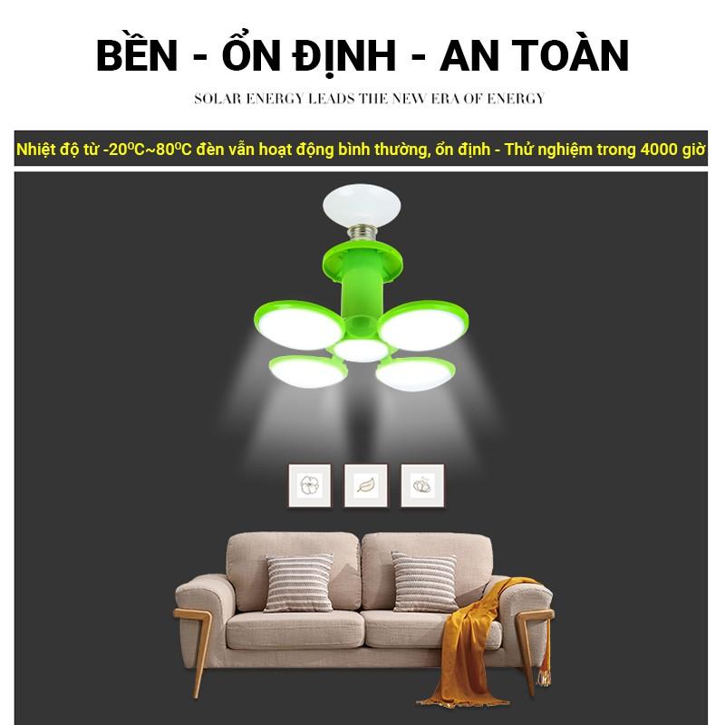 [BH 1 NĂM] Đèn đĩa bay 5 cánh xếp 40W tiết kiệm điện năng, ánh sáng trắng siêu sáng chiếu sáng cực tốt,hình quả bóng UFO