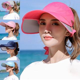 Mũ lưỡi trai vành rộng chống tia UV cho nữ