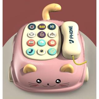 Ô to mô hình kiêm điên thoại cho trẻ, thiết kế tinh tế giúp trẻ rời bỏ điện thoại, chắt liệu nhựa PVC an toàn Spdienthoa