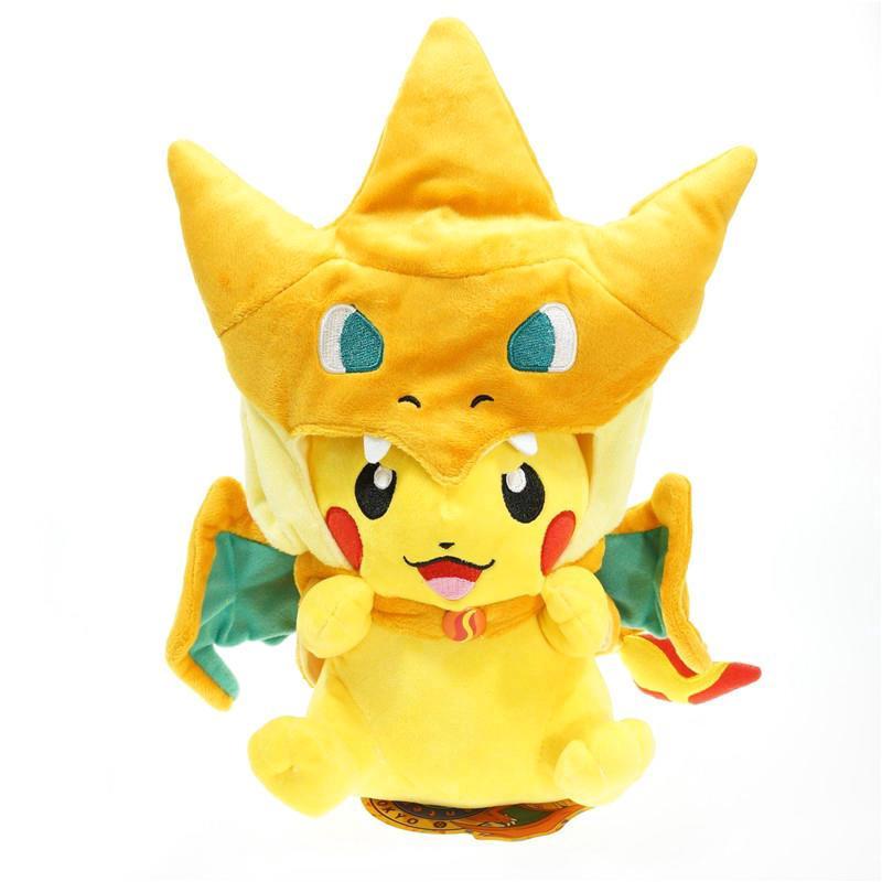 Anime Pocket Monster Stuffed 35cm Hat Pikachu Doll Pokemon Plush Smile Toys