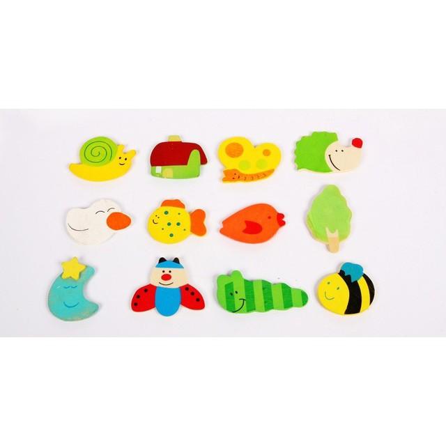 Bộ 26 chữ, 10số+12 sinh vật biển nam châm cho bé vui học _ShopXuka