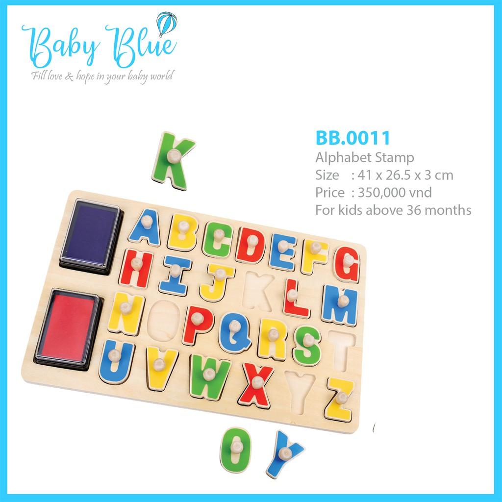 Đồ chơi gỗ – Bảng dấu chữ cái Alphabet