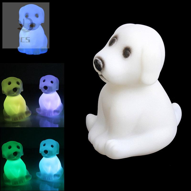CS♥ LED Night Light Color Changing Party Decoration Cute Cartoon Dog Animal Mood Lamp Gift