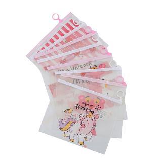 Túi Đựng Bút Trong Suốt In Hình Báo Hồng / Kỳ Lân Dễ Thương Cho Nữ