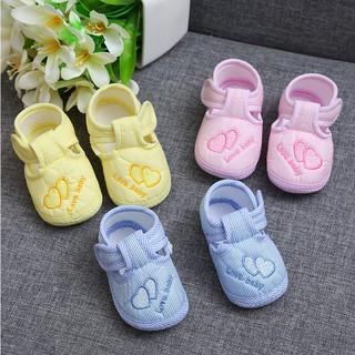 Giày cotton quai dán đế mềm chống trượt dành cho trẻ em từ 0-12 tháng tuổi thumbnail