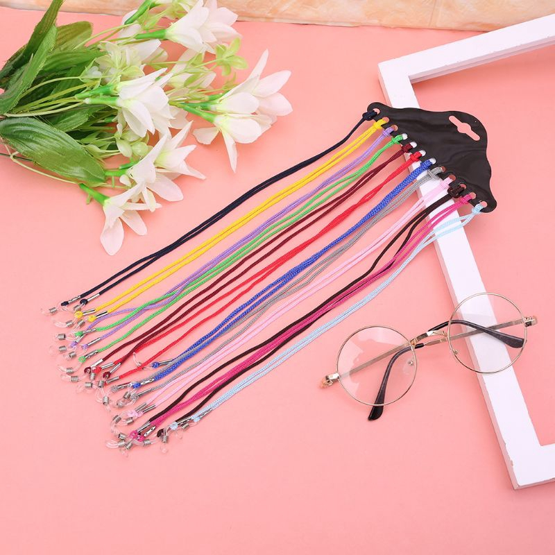 12Pcs Colorful Eyewear Nylon Cord Reading Glass Neck Strap Eyeglass Holder NEW