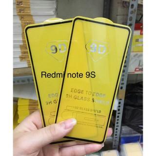 Kính cường lực Full màn 9D Xiaomi Redmi note 9S( mới) màu đen
