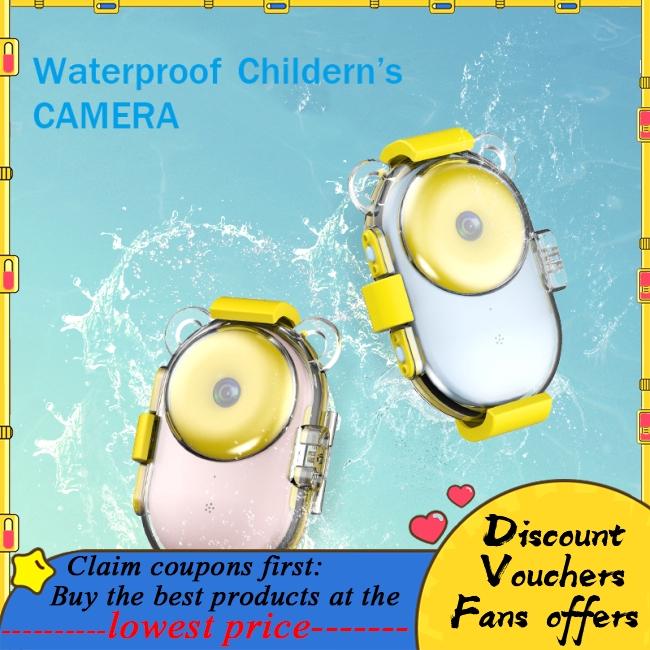 Cute Donut Video Children HD Color Image Cartoon Kids Digital Camera Waterproof Toy