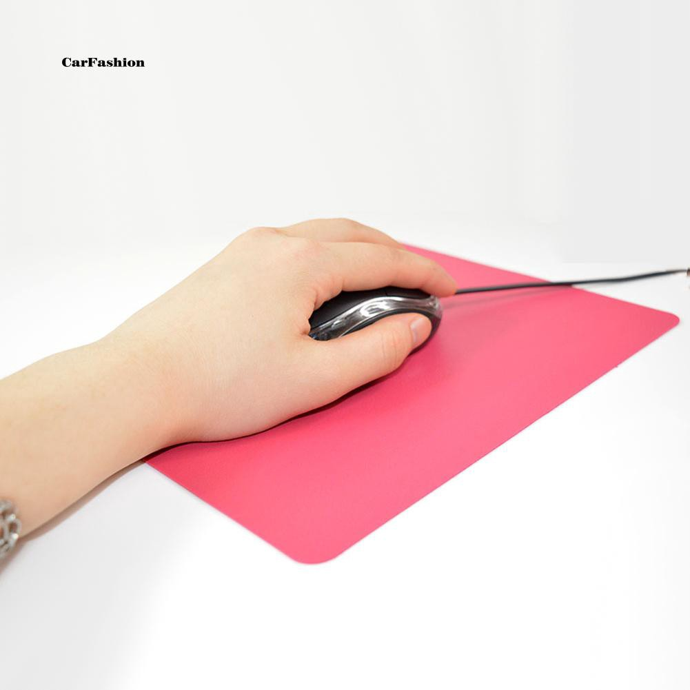 CAFS_21.5 x 17.5cm Gaming PC Laptop Mouse Pad Anti-Slip Solid Color Rectangle Mat