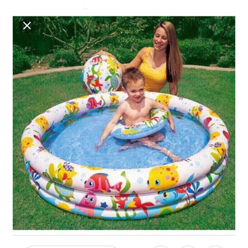 bể bơi ba màu hàng đẹp 1m47