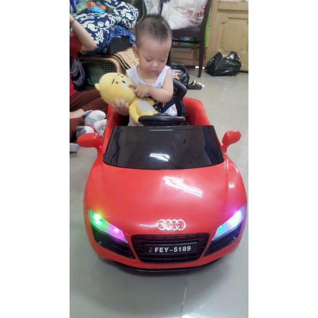 Xe Ô Tô Điện Trẻ Em MODEL FEY-5189, Có Điều Khiển, Màu Xanh, Hồng, Đỏ, Trắng - Siêu HOT