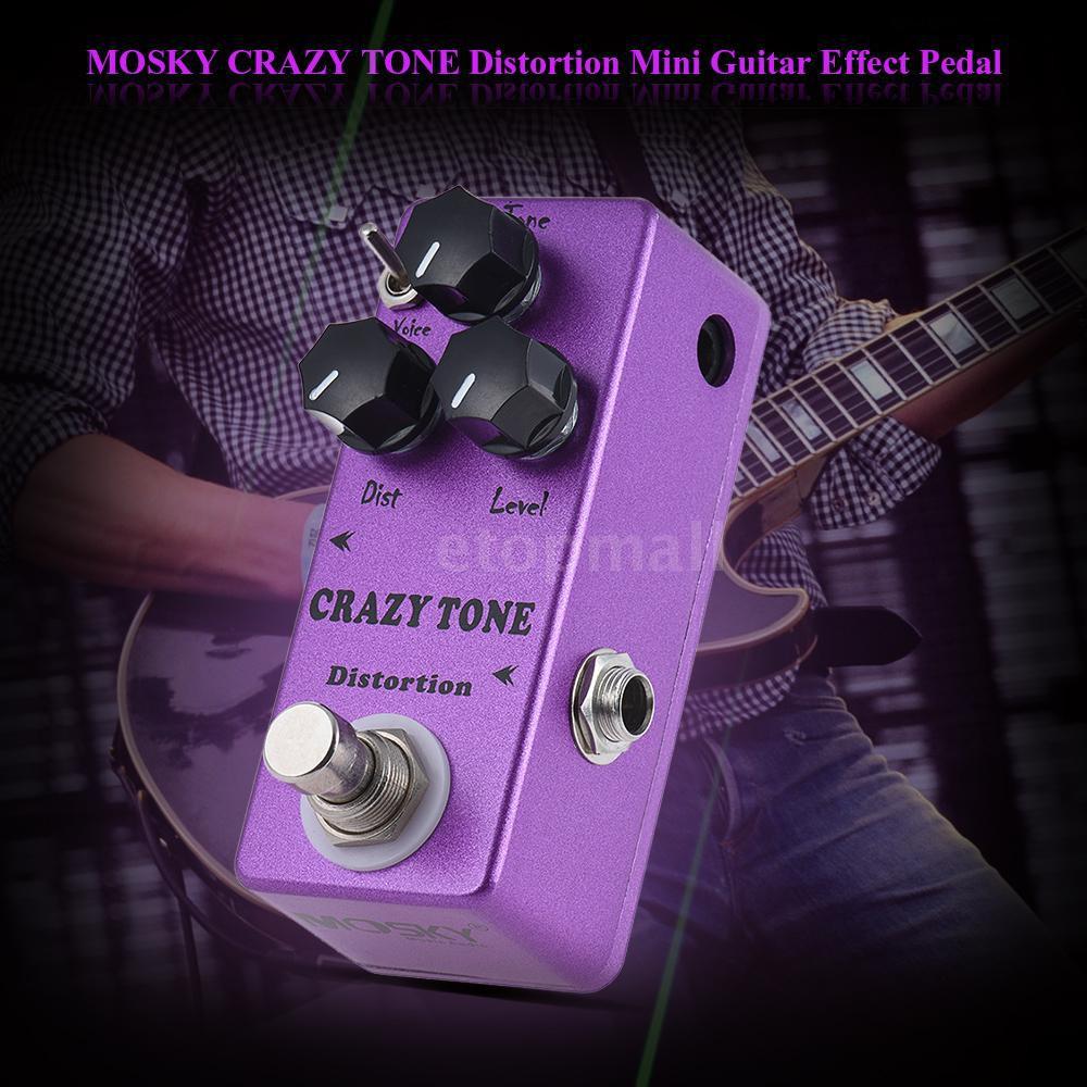 🔥🔥 MOSKY MP-50 CRAZY TONE RIOT Distortion Mini Single Guitar Effect Pedal True