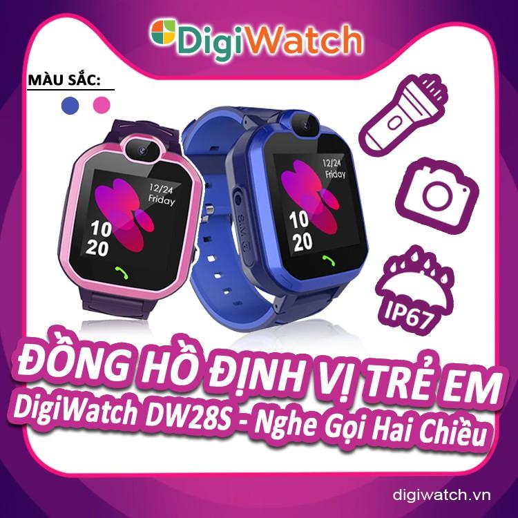 Đồng hồ định vị trẻ em Digiwatch DW28S Nghe gọi 2 chiều | Camera chụp hình | Chống nước IP67 | Tiếng Việt Mới Nhất
