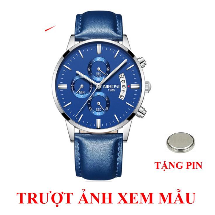 [CHÍNH HÃNG] Đồng hồ nam doanh nhân NIBOSI cao cấp Fullbox