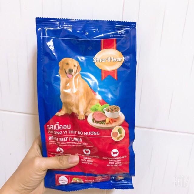 Thức Ăn Cho Chó Lớn Smartheart Vị Thịt Bò Nướng Gói 400g   Shopee Việt Nam