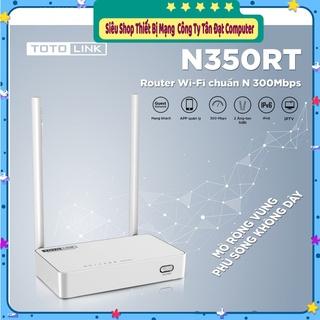 ( Siêu Rẻ )Bộ Phát Wifi TOTOLINK N350RT Chuẩn N 300Mbps - Chính Hãng mới 2021 thumbnail