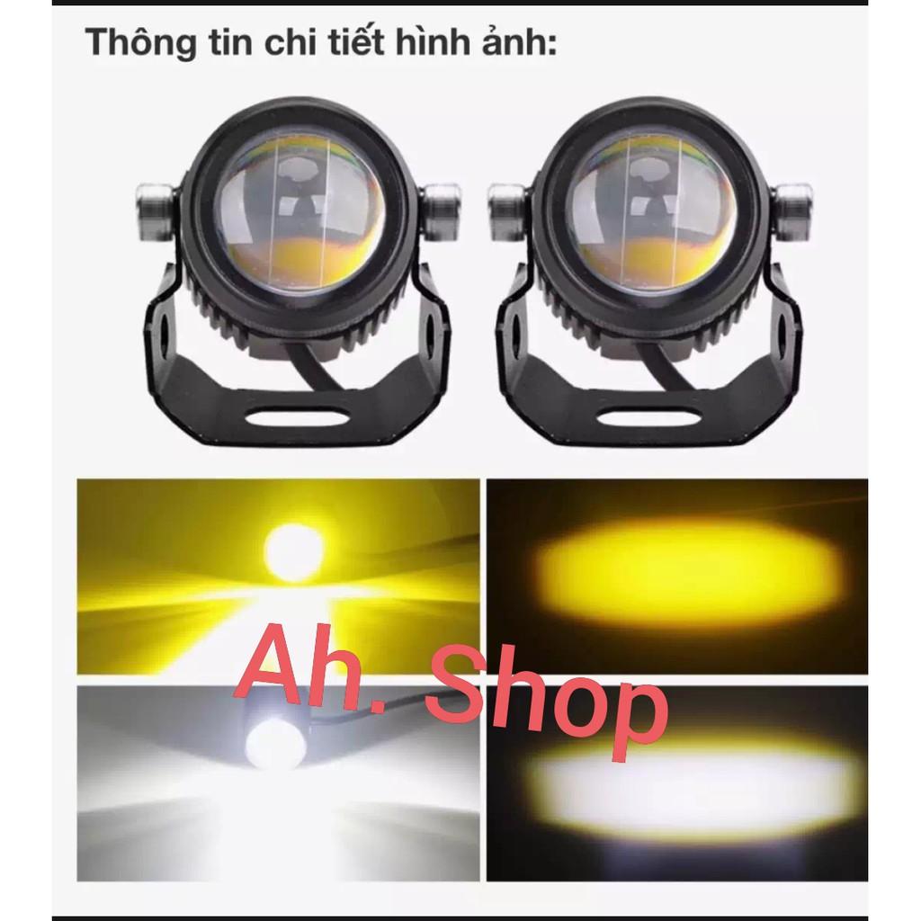 bóng đèn trợ sáng mini 2 màu cos vàng pha trắng giá 1 quả
