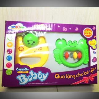 Combo 2 xúc xắc trẻ em nhựa nguyên sinh an toàn khi bé cầm nắm, cắn và ngậm