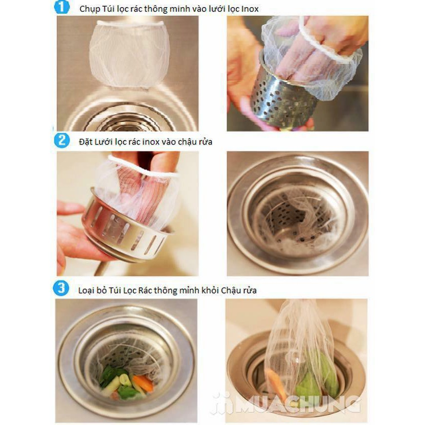 combo 500 túi lọc rác bồn rửa chén bát (5 gói)