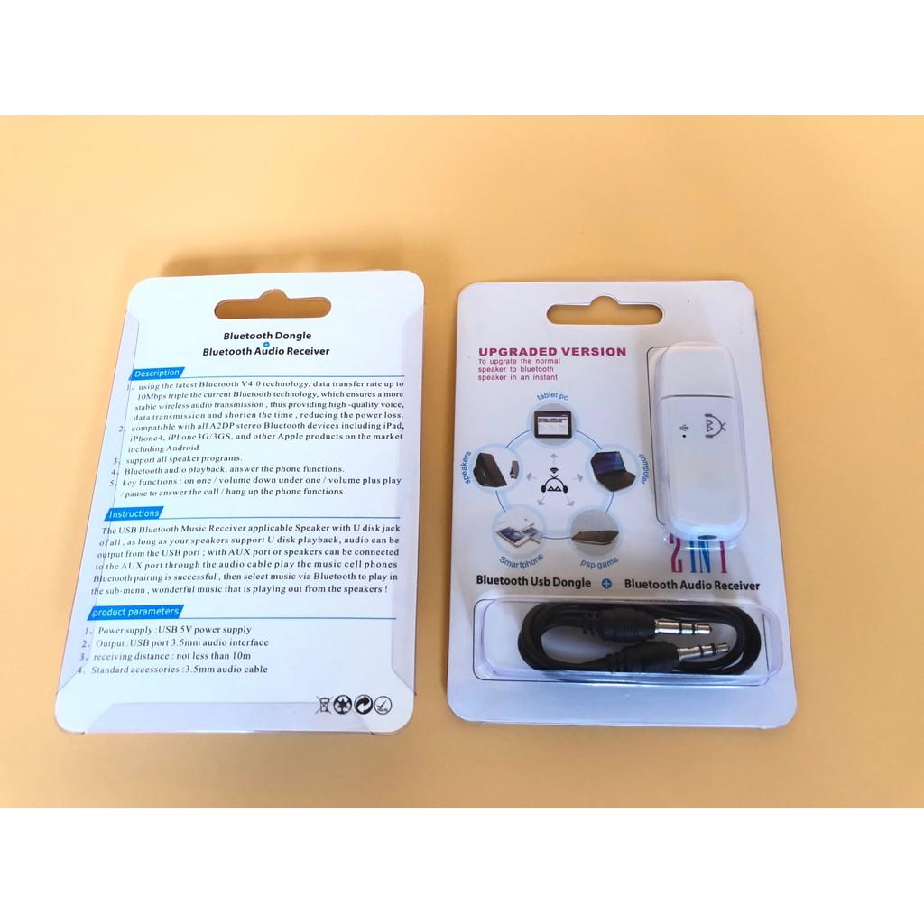 [Mã ELFLASH5 giảm 20K đơn 50K] USB Bluetooth Dongle V4.0 2018 Biến Loa Thường Thành Loa Bluetooth