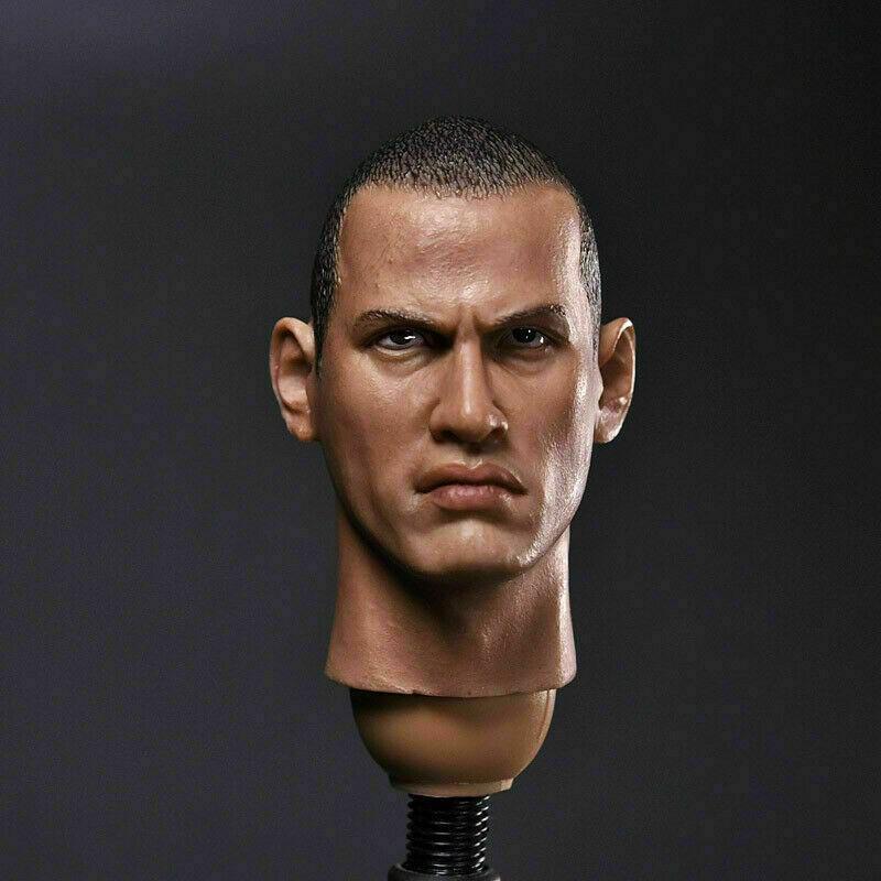 """CrazyDummy 75 1/6 Ranger Dwayne Johnson Head Sculpt Fit 12"""" Soldier Figure"""