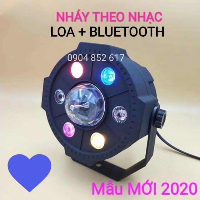 Đèn nháy theo nhạc quay tiktok cầu xoay pha lê sân khấu có bluetooth + Loa + Điều khiển. MẪU MỚI 2020