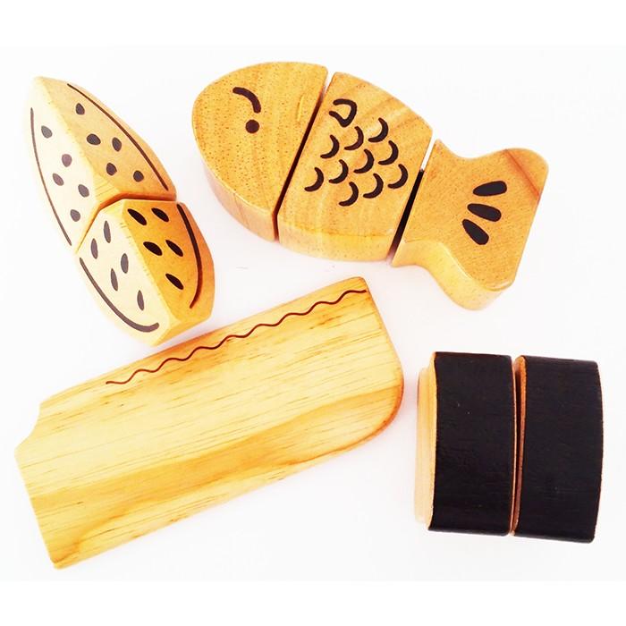Đồ chơi xếp hình gỗ an toàn giáo dục phát triển trí thông minh cho bé Cooking Sets