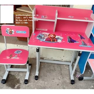 Bàn học sinh xuân hòa có giá sách + ghế BHS 13-06A màu hồng