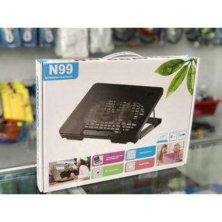 Đế quạt tản nhiệt Laptop 2 quạt lớn N99 Cooling pad thumbnail