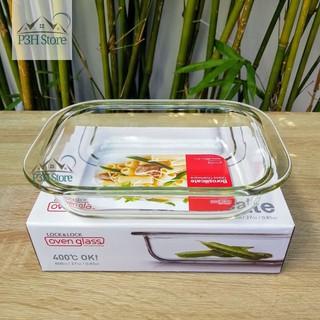 Khay nướng thủy tinh dĩa thủy tinh chịu nhiệt Lock&Lock dùng trong lò nướng trộn salad LLG587 LLG582 LLG583 thumbnail