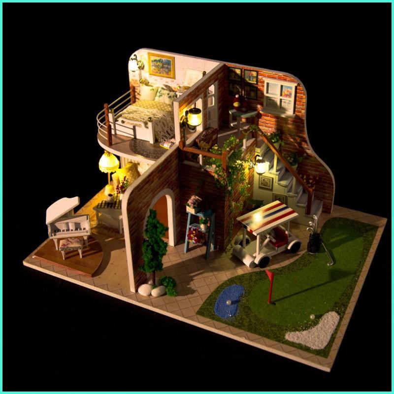 Mô hình nhà gỗ tự ráp Ngôi nhà trên thảo nguyên