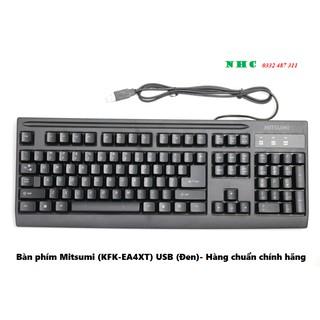 Bàn phím Mitsumi (KFK-EA4XT) USB (Đen)- Hàng chuẩn chính hãng thumbnail