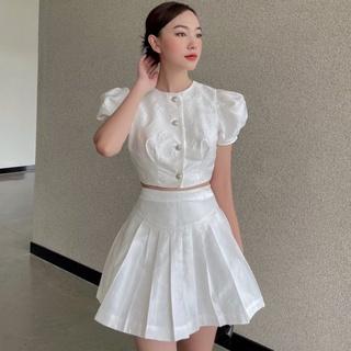 Áo tay ngắn bồng vải gấm , Peace House Clothing thumbnail