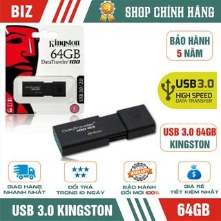USB 3.0 64GB Kingston DT100G3 - Bảo hành 5 năm