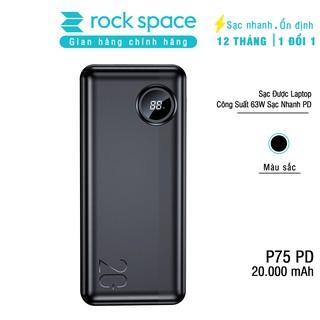Pin sạc dự phòng Rockspace P75 20.000 mAh 63W  sạc được laptop hỗ trợ sạc nhanh chuẩn PD cho iphone,QC cho Samsung