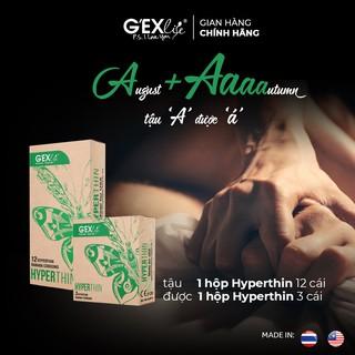 Bao cao su G EXlife Hyperthin ôm khít kéo dài hộp 12 cái thumbnail