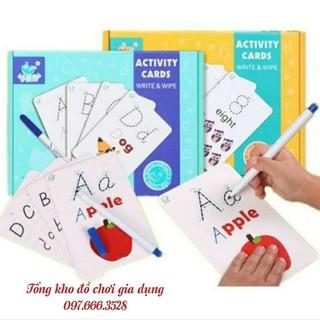 """Bộ đồ chơi thẻ học thông minh """"ACTIVITY CARDS WRITE & WIPE"""""""