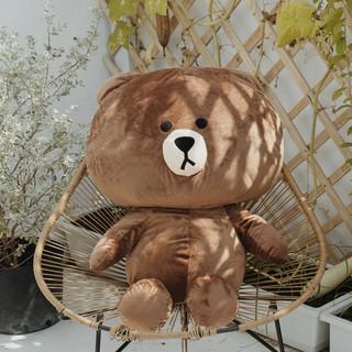 Gấu bông Line Brown cao cấp khổ vải 1m2 màu nâu-GBBR