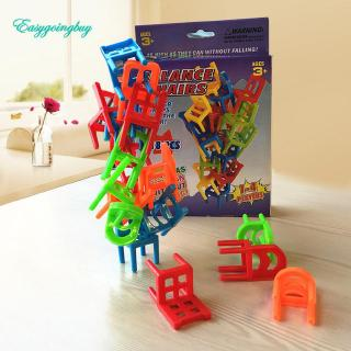 Toy ♡ 18X Plastic Balance Toy Stacking Chairs for Kids Desk Play Game Toys