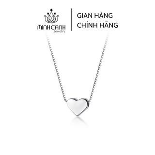 Dây Chuyền Bạc Trái Tim Trơn Mini - Minh Canh Jewelry thumbnail