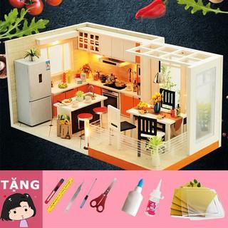 Mô hình nhà gỗ tự ráp Nhà bếp hiện đại