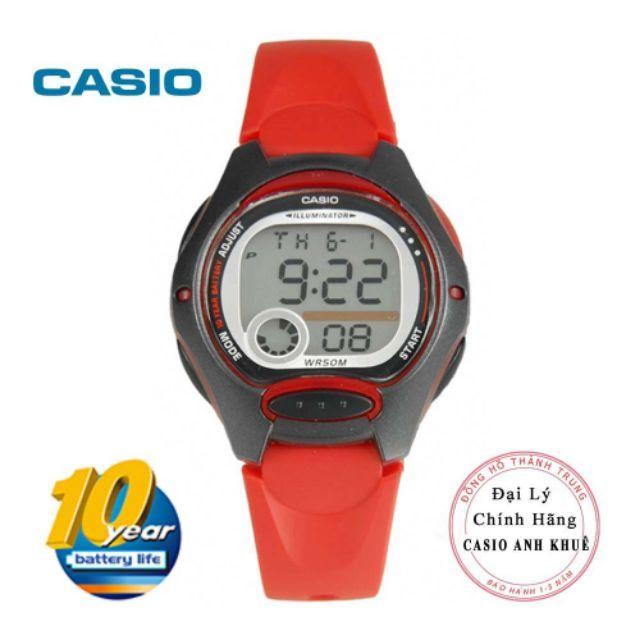 Đồng Hồ Nữ Casio LW-200-4AVDF Dây Nhựa Pin 10 Năm