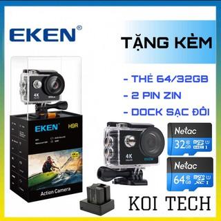 Camera hành trình 4k Eken H9r new - camera hành trình wifi ip xe ma y oto phươ t - vienthonghn thumbnail