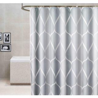 Rèm che bồn tắm phối họa tiết đơn giản sang trọng