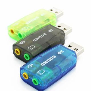 USB ra sound 2.0 3D. USB ra âm thanh. Giúp cho PC Laptop không có cổng âm thanh. Vi Tính Quốc Duy