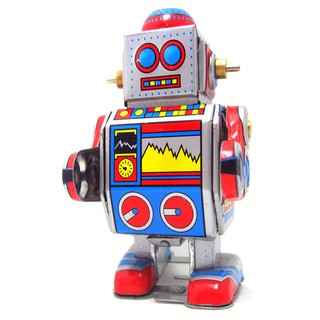 Ms235 Metal Robot Retro Clockwork Wind Up Tin Toy