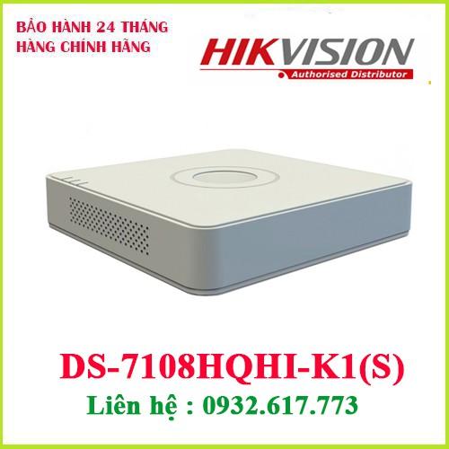 Đầu ghi hình HD-TVI 8 kênh TURBO 4.0 HIKVISION DS-7108HQHI-K1(s)