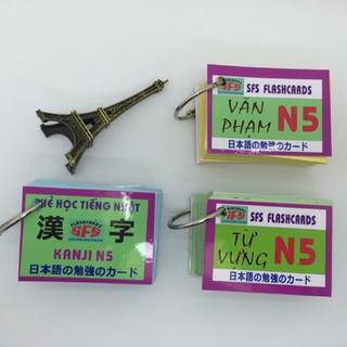 Thẻ học tiếng Nhật N5 ( 3 xấp) thumbnail