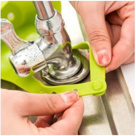 Giỏ đa năng treo rẻ rửa bát, đựng đồ trong nhà tắm, nhà bếp Silicon bền đẹp, tiện lợi